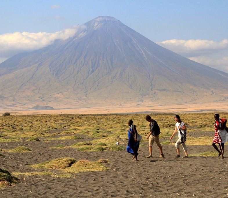 Africa's only active volcano, the Oldonyo Lengai