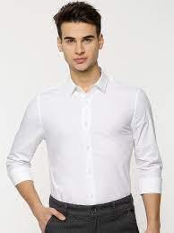 Buy Calvin Klein Jeans Men White Slim Fit Solid Formal Shirt - Shirts for  Men 8516635 | Myntra