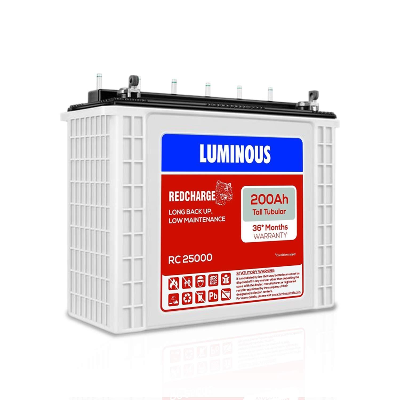 Luminous RC 25000 200AH Tubular Inverter Battery