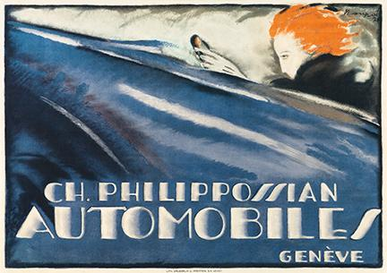 CH. Philippossian Automobiles / Genève, 1920. Sold June 18, 2020, in Graphic Design / Modernist Posters for $137,000, a record for the artist.