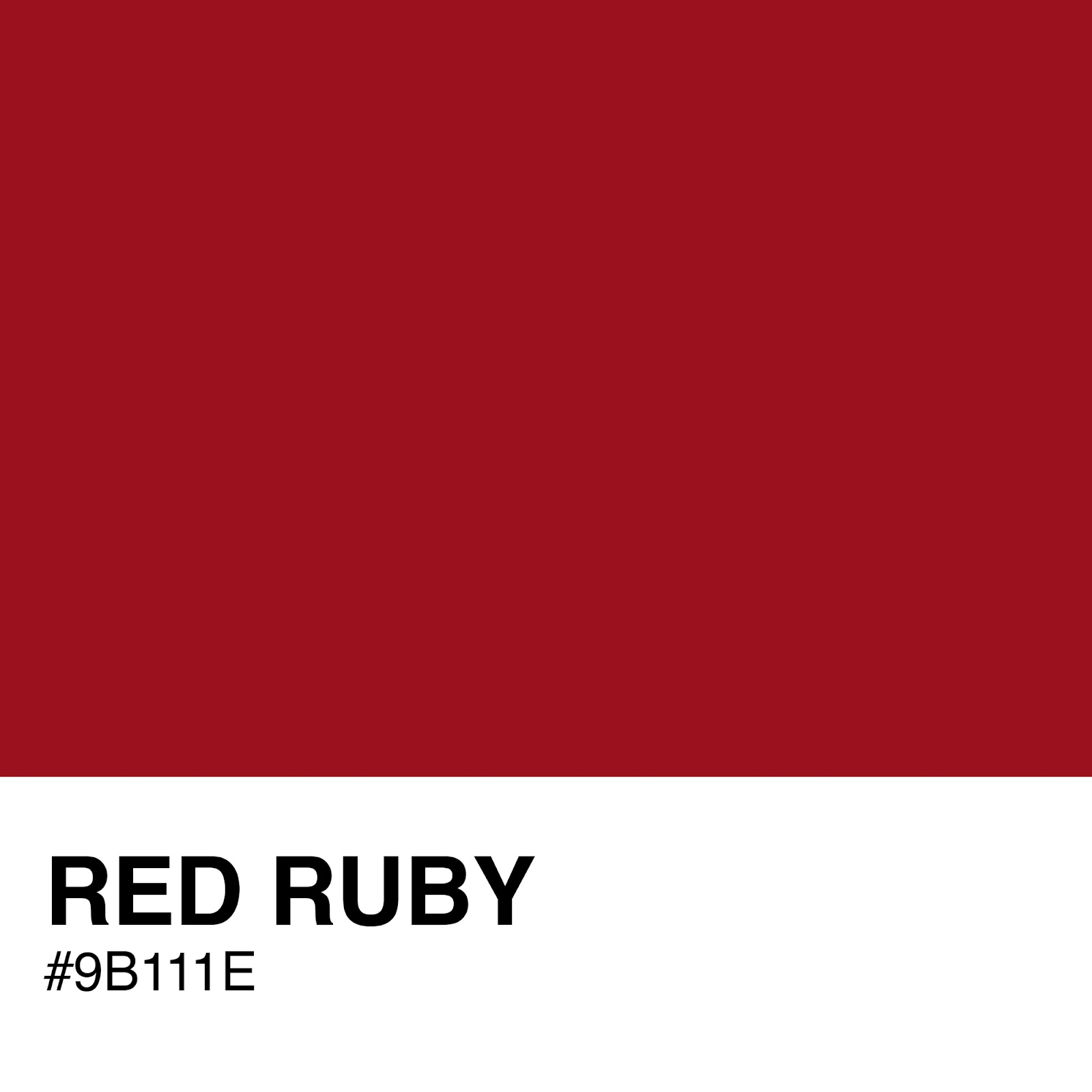 Jason B Graham | #9B111E Color Swatch