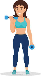 Image of happy female weight trainer