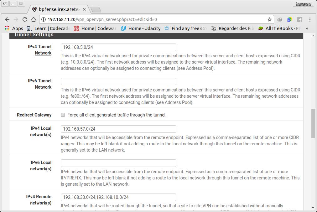 Interconnection of LANs with OpenVPN | IREX Website