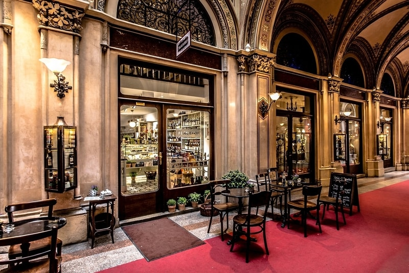 A traditional coffee house in vienna are filled with nostalgia