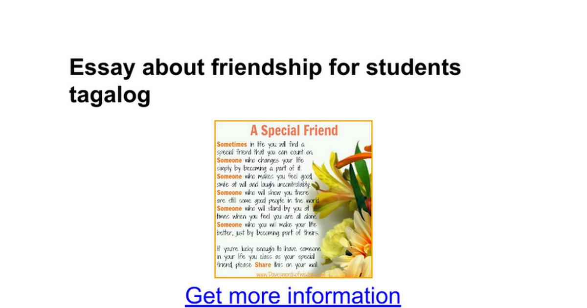 essay about friendship for students tagalog google docs