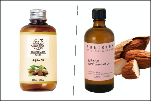 精油稀釋-基礎油-荷荷芭油-甜杏仁油