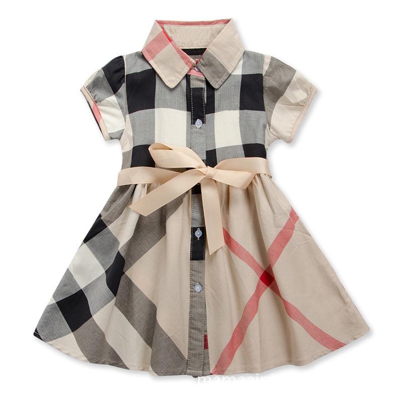 Sukienka w kratę dla dziewczynki