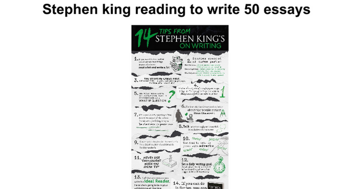 stephen king reading to write essays google docs