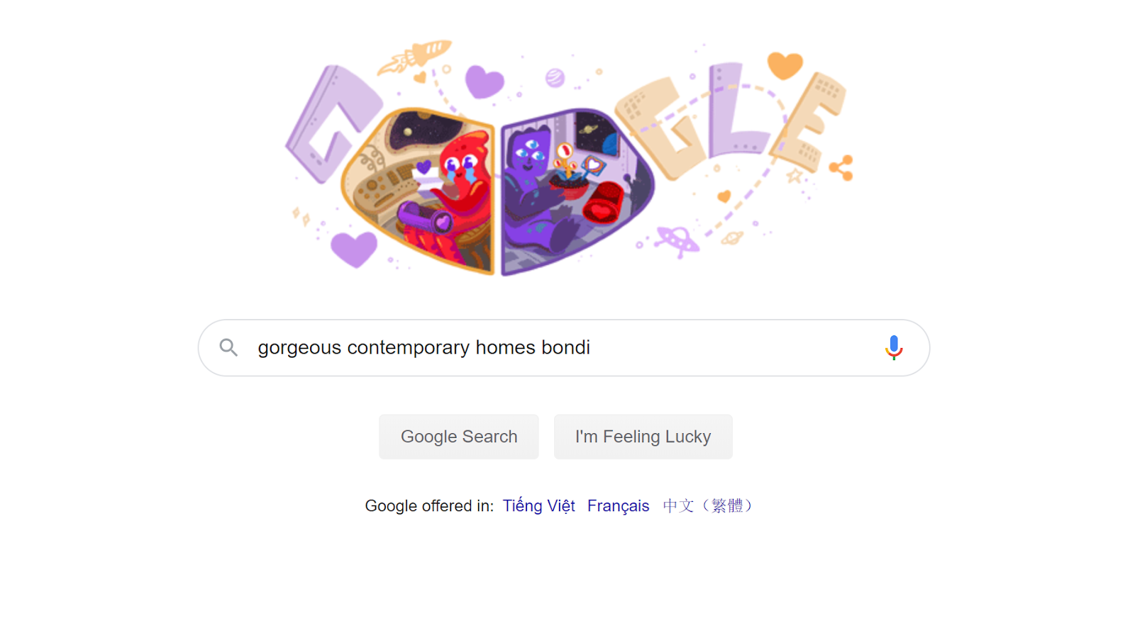 example of google search 1