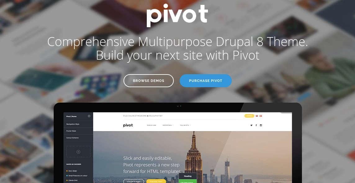 Drupal 9 theme Pivot