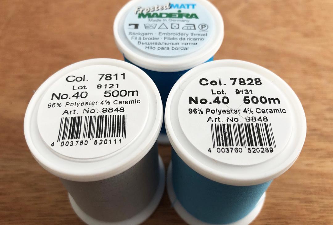 7828 neon blue Filato Madeira Frosted Matt