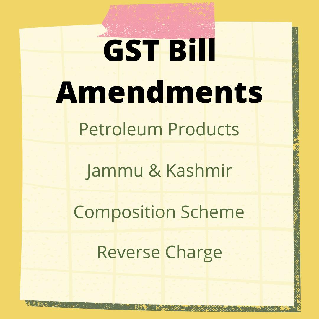 GST Bill Amendments