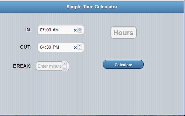 timecalculator chrome web store