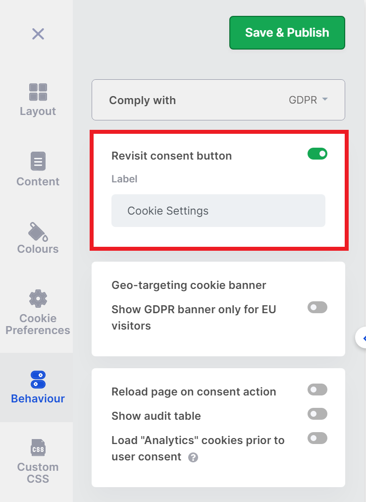 CookieYes withdraw cookie consent