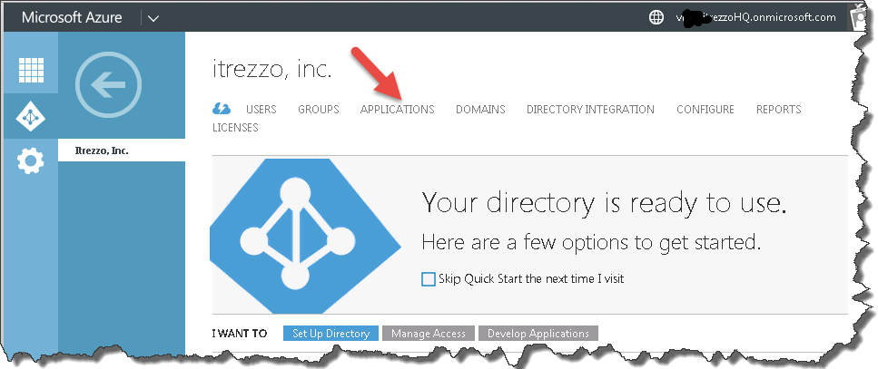 Configure an Azure Application