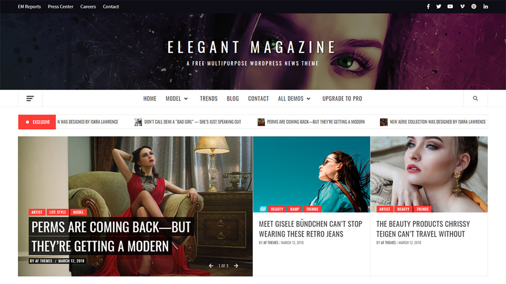 tema para blogs wordpress elegant magazine