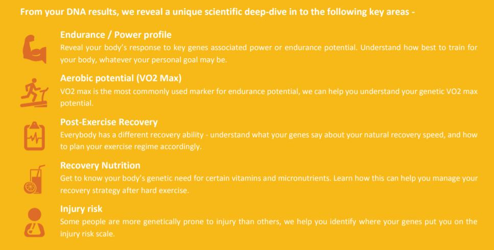 Trecho do relatório de saúde DNAfit.