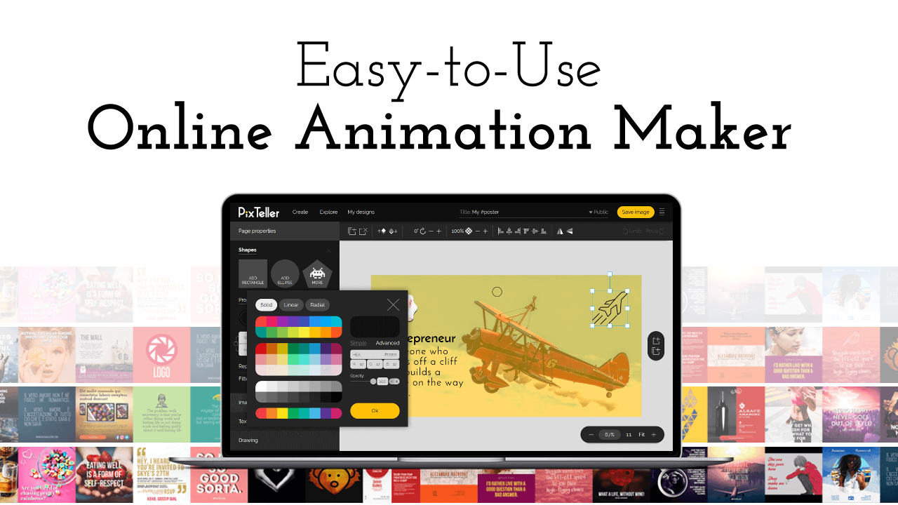 How to use the PixTeller animation video maker.