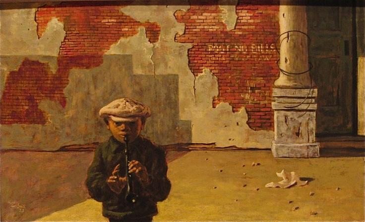 Hughie Lee- Smith. The Piper. 1953. (2) Analysis: