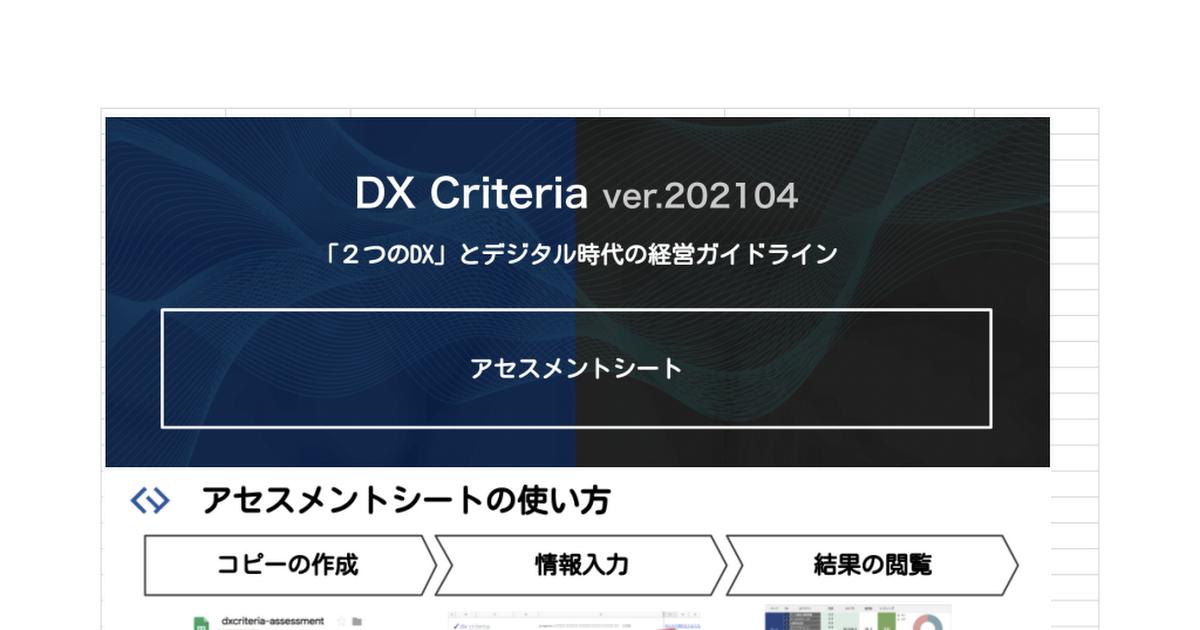 DX Criteria アセスメントシート