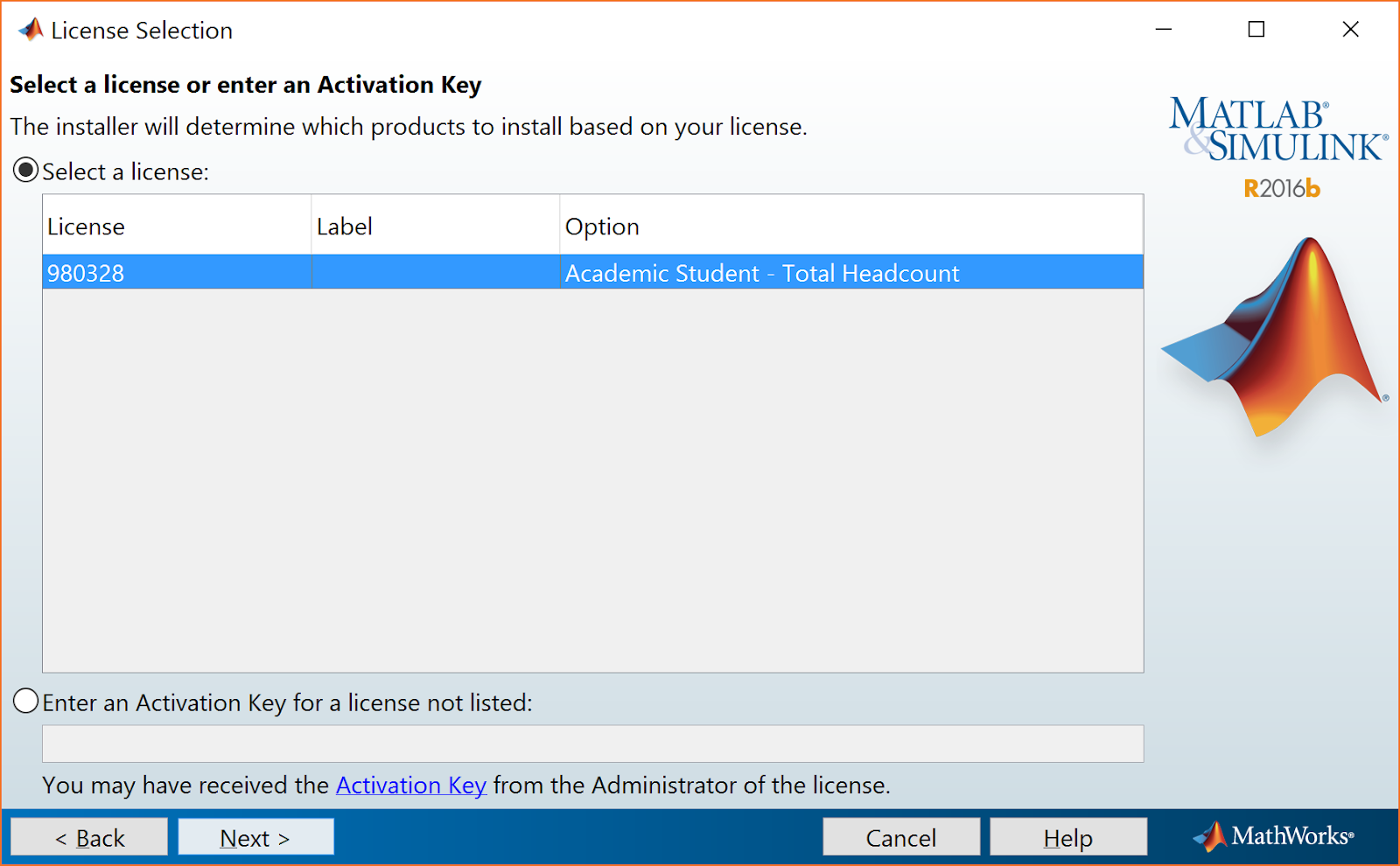 math works account activation key