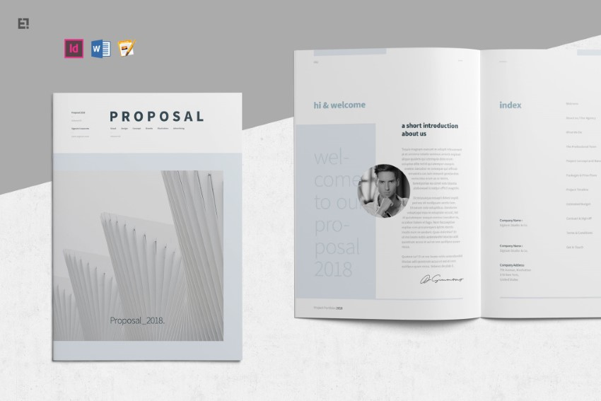 business proposal template word doc on Envato Elements