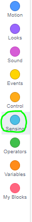 scratch sensing button circled in green