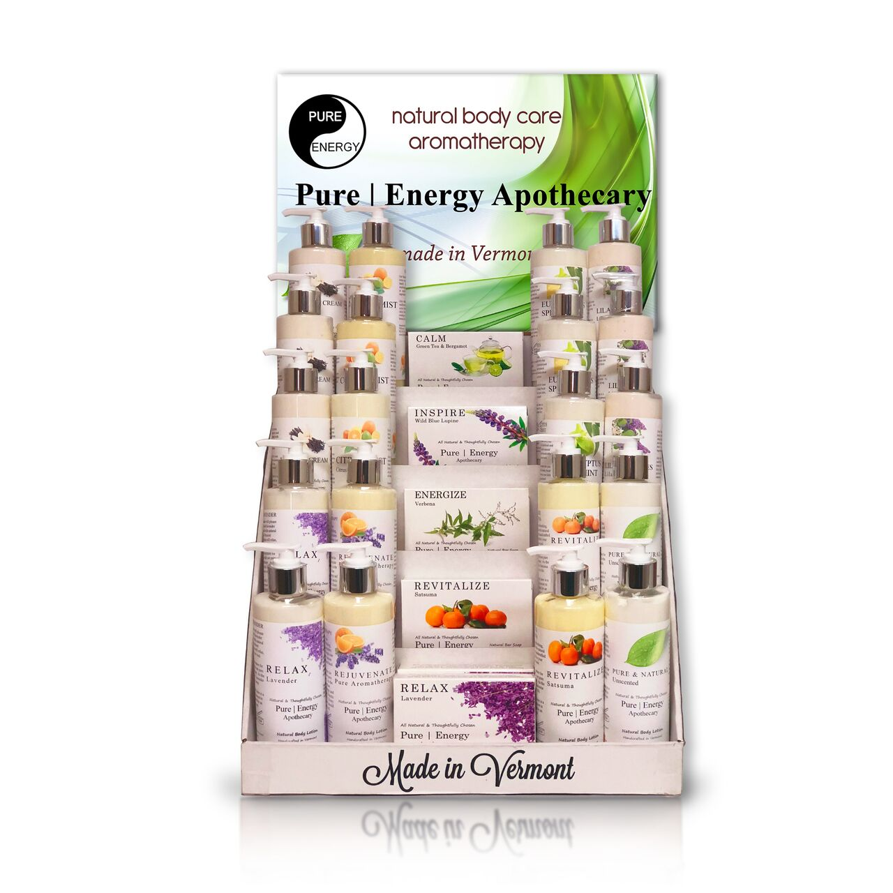 Pure Energy Apothecary display