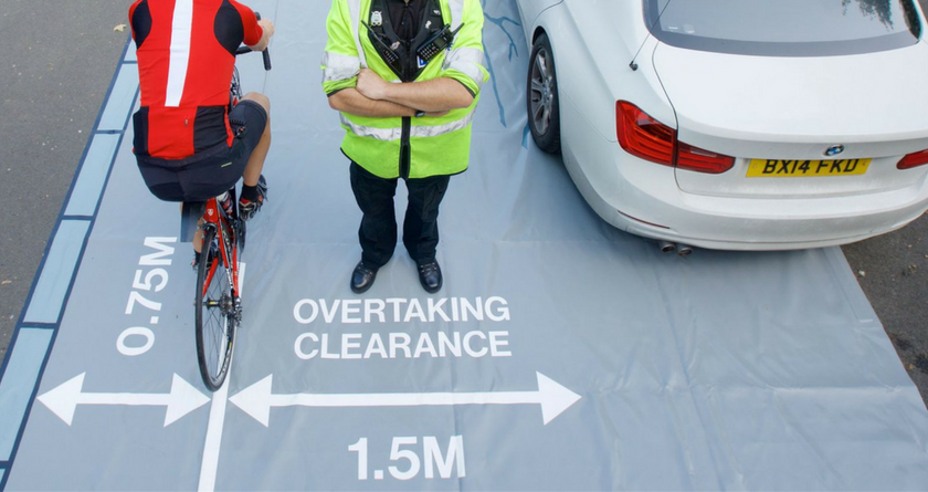 Driving too close to a cyclist will lead to a £100 fine