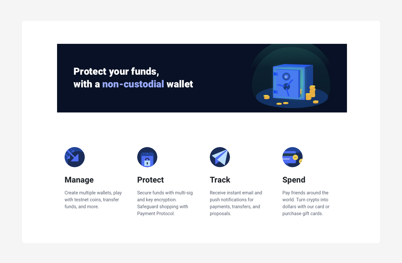 bitpay wallet functions