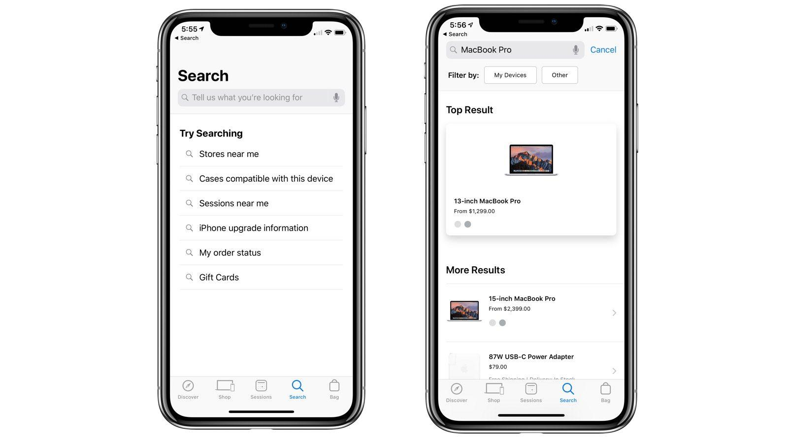 Image result for apple updated app store search