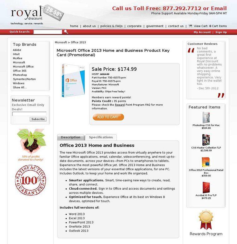 Royal Discount Legible Font Example Version 2