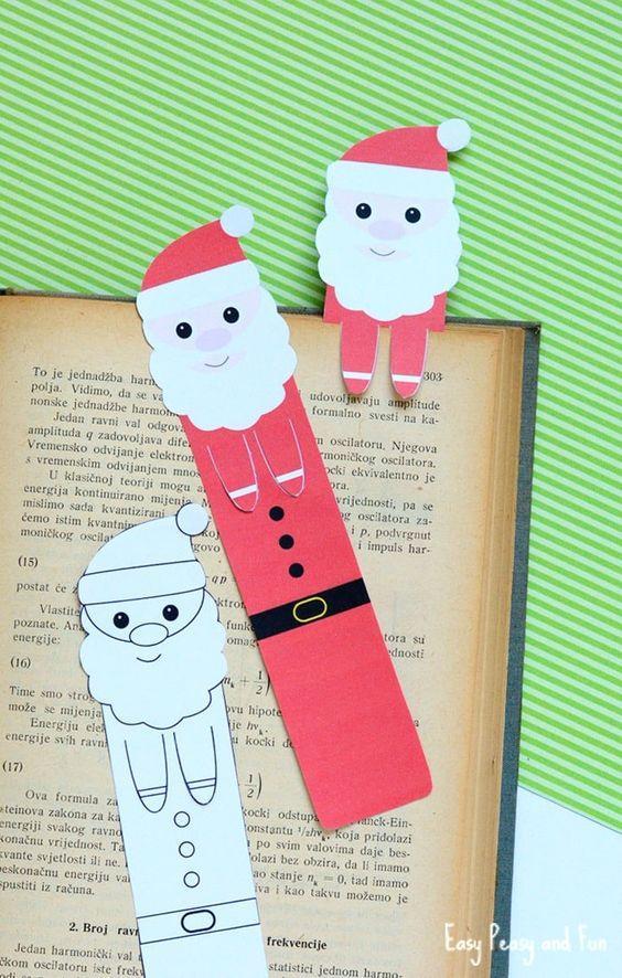 Printable Santa Bookmarks