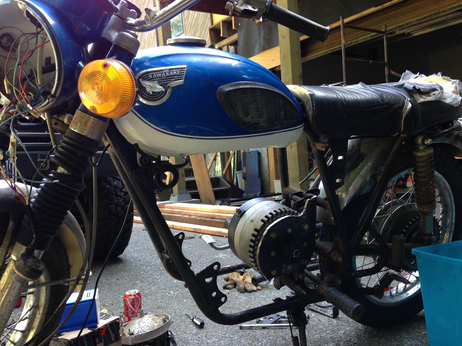 1967 Kawasaki A1 Ss Electric Conversion Adventure Rider