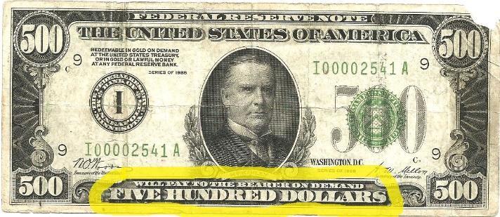 C:\Users\Greg\Documents\JPG\Debt Free Money\money\500 Federal Reserve Note Yellow Highlight.jpg