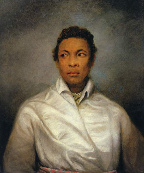 Othello, The Moor of Venice, 1826 (oil on canvas), Northcote, James (1746-1831) / English, Manchester Art Gallery, UK, 76.2x63.5 cms, sitter almost certainly actor Ira Aldridge (1807-67) who was known as African Roscius; played part in Manchester in 1827; Senegalese American naturalised in Britain; © Manchester Art Gallery / Bridgeman Images