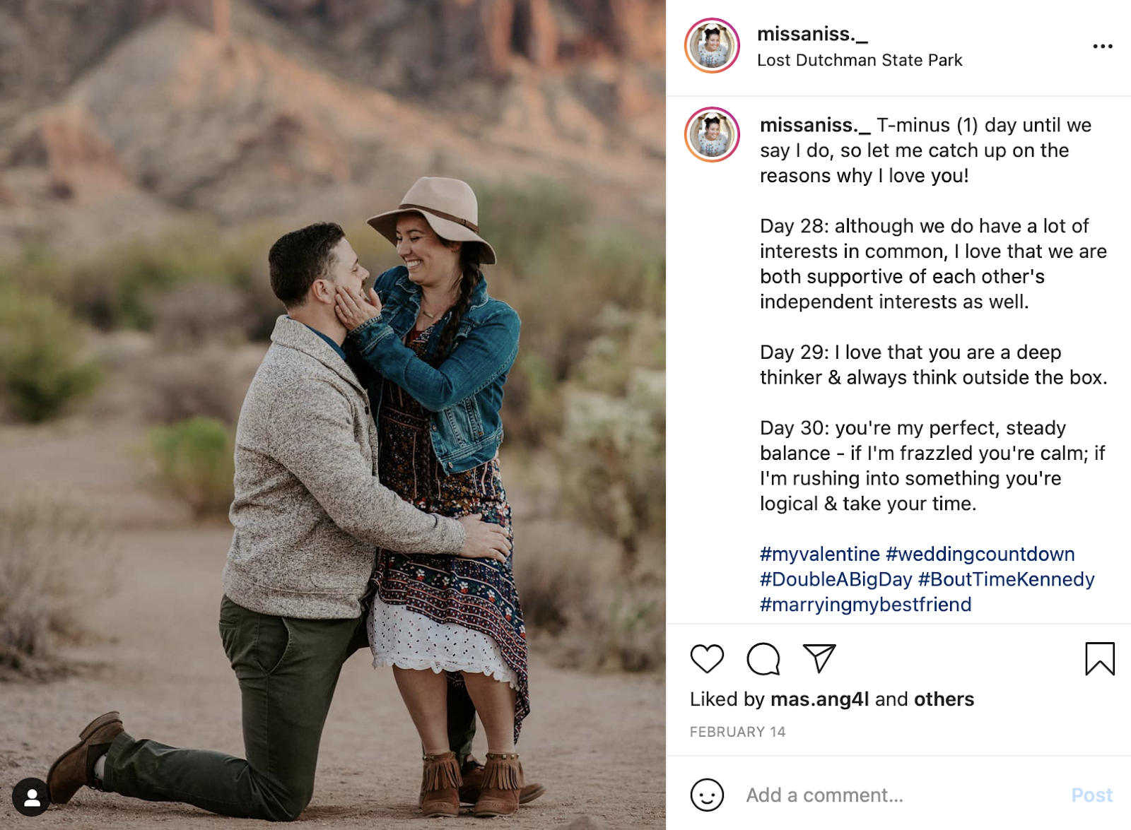 what you love most about them proposal photo