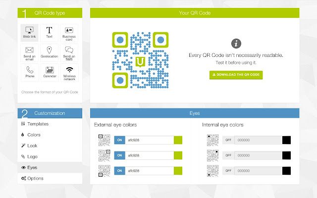 qr code generator by unitag chrome web store