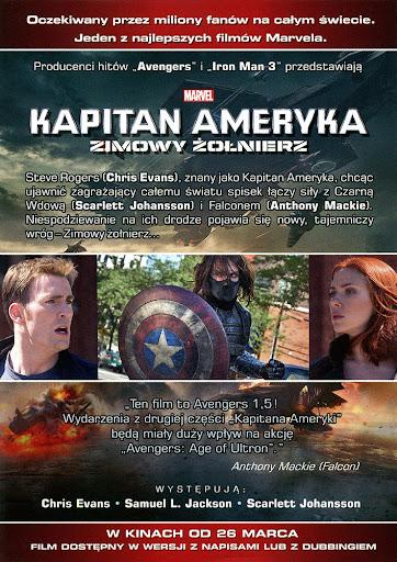 Tył ulotki filmu 'Kapitan Ameryka: Zimowy Żołnierz'