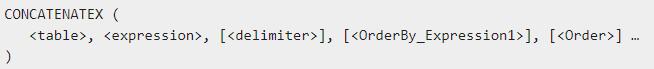 Concatenatex DAX Power BI expression