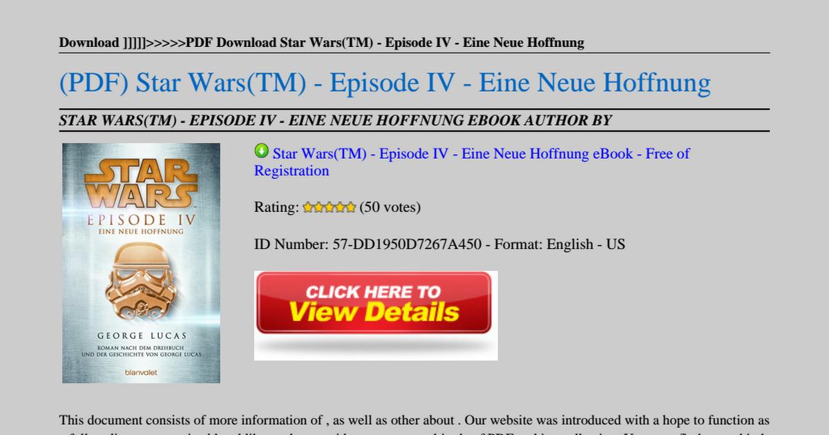 Star Wars Tm Episode Iv Eine Neue Hoffnung Pdf Google Drive