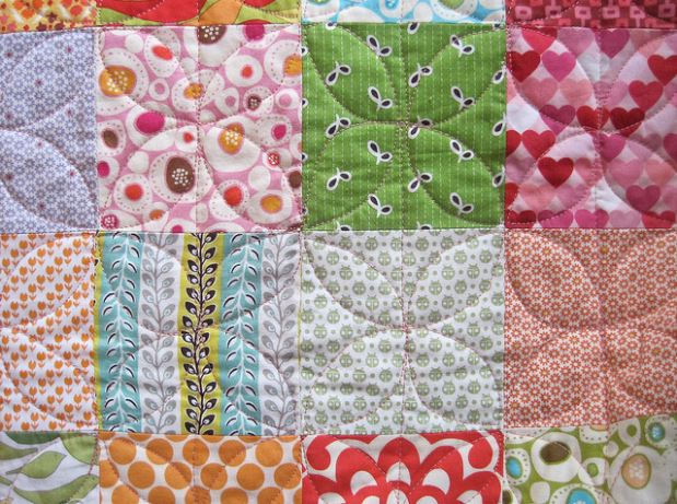 Close-up on Patchwork Quilt