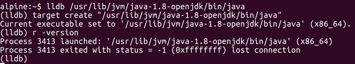 Native Java Debugging on Alpine Linux: GDB, OpenJDK and the