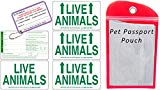 Live animal stickers to place on a dog kennel for flying.