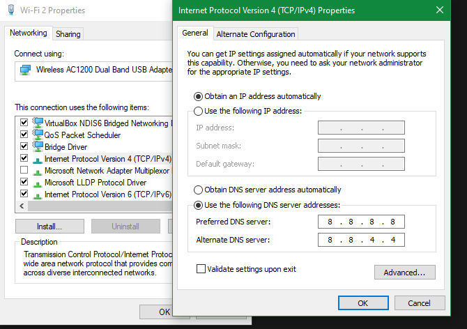 Windows 10 Change DNS Settings