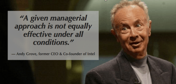 andy grove's concept of trm is a great way to improve the work experience