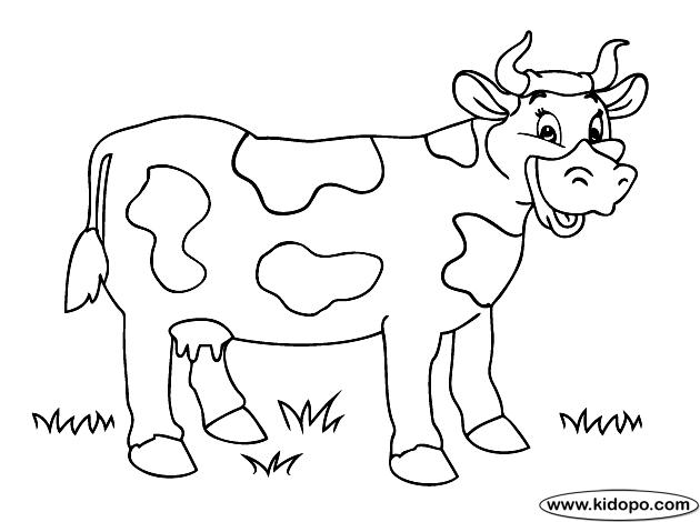 Dibujos De Vacas Animadas Para Colorear: Maestra Prescolar