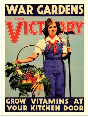 "Posters encouraged citizens to do their part with slogans like ""Our food is fighting"" and ""Food will win the war."" People who had never gardened before were energized by the prospect of helping the country, and many Americans gave it a try."