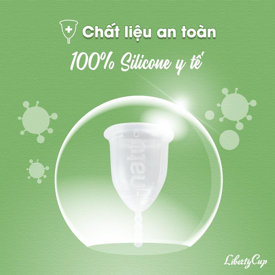 Liberty Cup được làm từ silicone y tế 100%