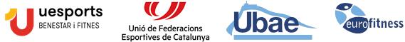 Logotipos: Uesports, UFEC, UBAE y Eurofitness